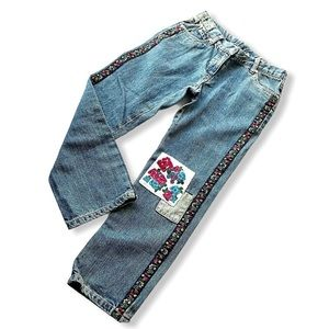 Hanna Andersson Patch Jeans Girls 130 Size 8